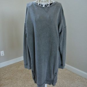 Oversize Weathered Long Sweatshirt Sz 1X by Mudd